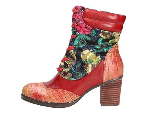 Laura Vita Anaelle07-rouge - Botas para mujer Rojo