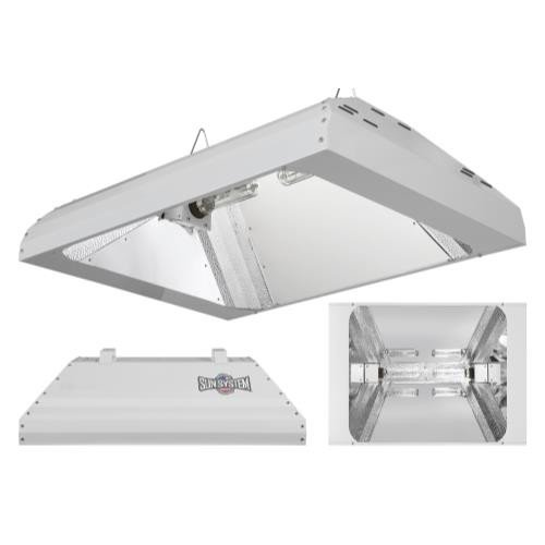 Sun System Grow Lights -  LEC 630W |  120V |  3100K Lamps - Indoor Grow Light Fixture for Hydroponic and Greenhouse Use - Philips Green Power Full Spectrum CDM Lamps and Internal Ballast Included by Sun System Complete Systems