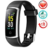 1. Fitness Tracker With Blood Pressure HR Monitor - 2019 Upgraded FITFORT Activity Tracker Watch With Heart Rate Color Monitor IP68 Pedometer Calorie Counter and 14 Sports Tracking for Women Kids Men