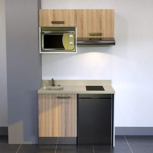 CUISIBANE Kitchenette K02 - 120 cm (con Tarjetero Nevera Top ...