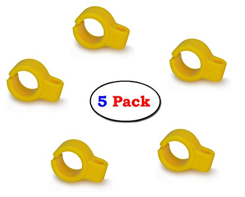 Cigarette Holder Ring- Hands free Cigarette Holder Ring to Protect your finger turn yellow for Console Gamers, Musicians and Drivers, Silicone Smoke Hand Rack for Smokers (5pc Yellow)