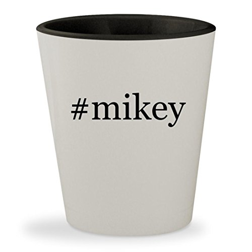 Price comparison product image #mikey - Hashtag White Outer & Black Inner Ceramic 1.5oz Shot Glass