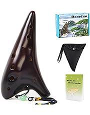 Ocarina 12 Tones Alto C with Song Book Carry bag Neck String Neck Cord