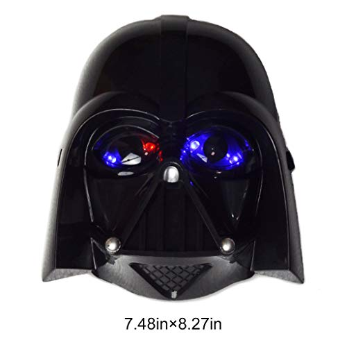 Star Wars: The Force Awakens Stormtrooper&Darth Vader Child's Cosplay Costume (Luminous DV Mask,Size of Mask)