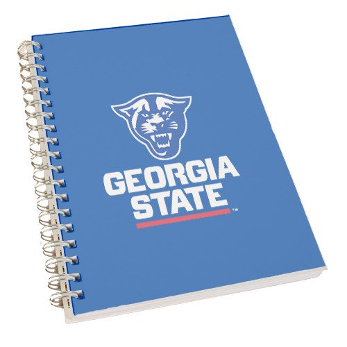 CollegeFanGear Georgia State Clear 7 x 10 Spiral Journal Notebook 'Official Logo' by CollegeFanGear