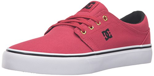DC Men's Trase TX Skateboarding Shoe, Red/Gold, 10 M US