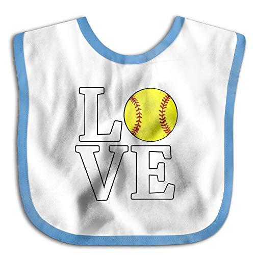 Love Softball Newborn Baby Boys Girls Cotton Saliva Towel Bibs Waterproof Saliva Towel