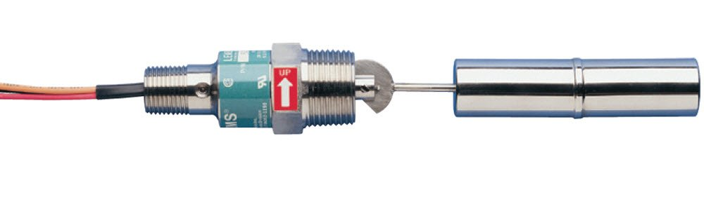 Gems Sensors 52100 316 Stainless Steel Float Single Point Side Mounted Level Switch, 1'' Diameter, 1'' NPT Male, 1'' Actuation Level, 20VA, SPDT Switch