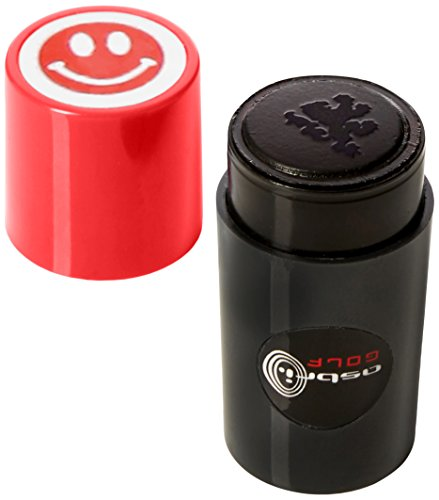 Golf Ball Stamper / Marker. Smiley Red by Sherpashaw