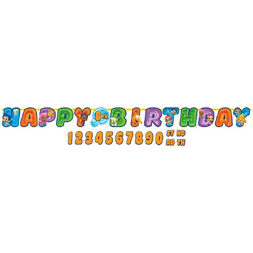 Jumbo Add-an-Age Letter Banner | Bubble Guppies Collection | Birthday -