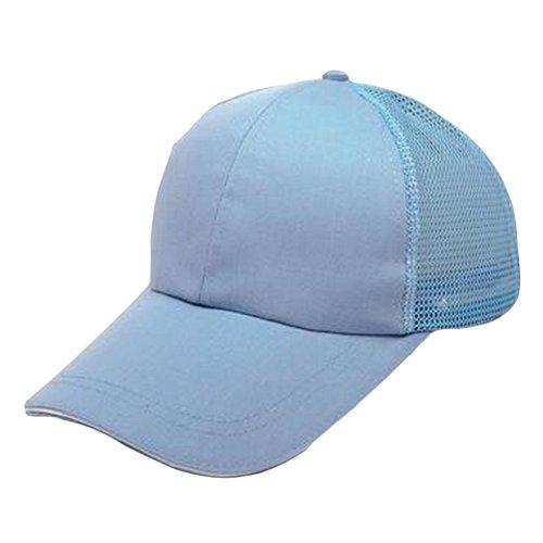 para Negro Ajustable 60CM Unisex Algodón Unidad Sombrero Celeste 1 Azul y Béisbol Mackur Exteriores 55 Cómodo Transpirable de qIAXOwH