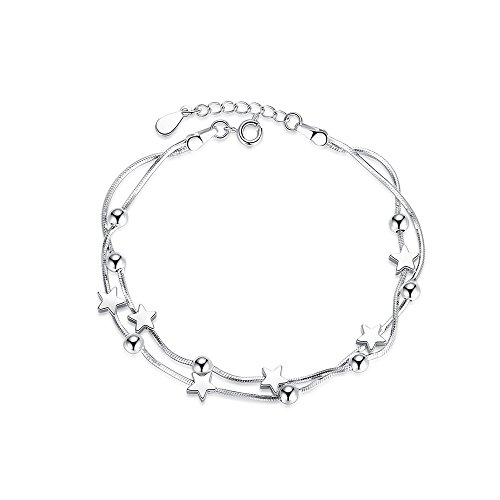top Perfect Eden 925 Sterling Silver Adjustable Star Bracelet 24 | Fashion Bracelets for Women and Girls - by hot sale