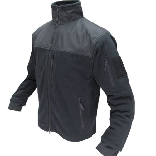 (CONDOR Micro Fleece Jacket (Black, XX-Large))