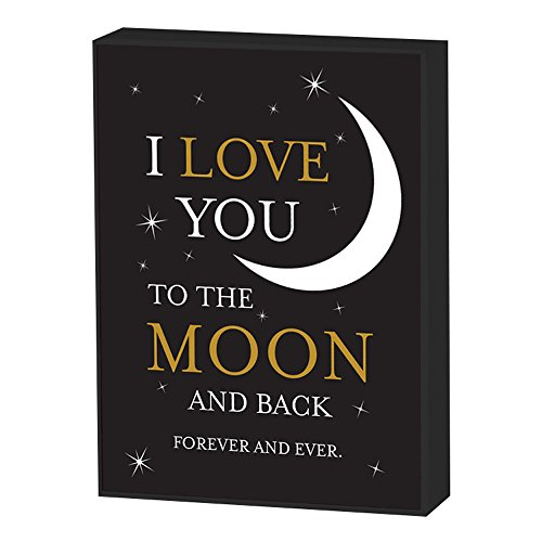 Elanze Designs Love You to The Moon and Back 10 x 13 Wood Print Overlay Wall Art Sign Plaque