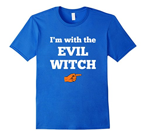 Mens Halloween Couples Costume T-shirt I'm With The Evil Witch 3XL Royal Blue (Fun Couple Costume Ideas)