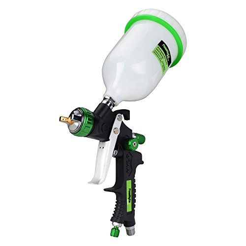 PowRyte Elite 20 Oz Composite HVLP Gravity Feed Air Spray Gun - 1.4mm Nozzle by PowRyte