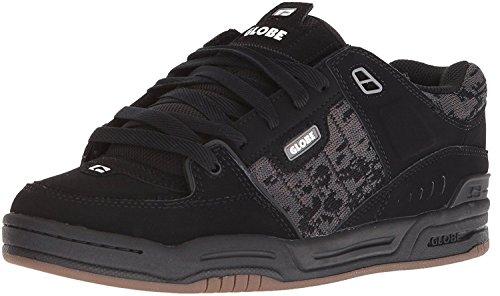 #Globe Fusion Black Camo Jacquard Nubuck Mens Skate Trainers Shoes Boots -