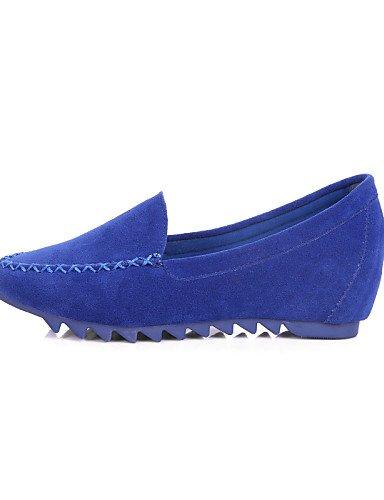 Zq Mujer Casual Planos Negro Yyz Azul Eu40 Uk7 us9 Rosa Ante Tac¨®n Plano Redonda us9 Zapatos De Mocas¨ªn Punta Cn41 Blue Fuchsia Morado Cerrada rqptwPrnx