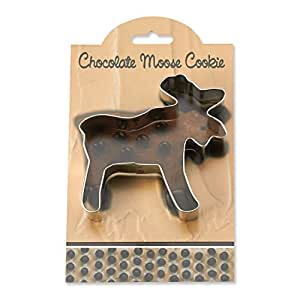Chocolate Moose Cookie and Fondant Cutter - Ann Clark - 4.1 Inches - US Tin Plated Steel