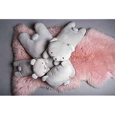 Craftholic MOCHIKUMA Bear Soft Plush Hug Cushion Size Medium (Pink): Home & Kitchen