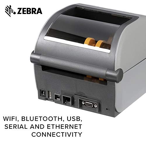 Zebra - ZD620d Direct Thermal Desktop Printer with LCD Screen - Print Width 4 in - 203 dpi - Interface: Bluetooth LE, Ethernet, Serial, USB - ZD62142-D01F00EZ by Zebra Technologies (Image #4)