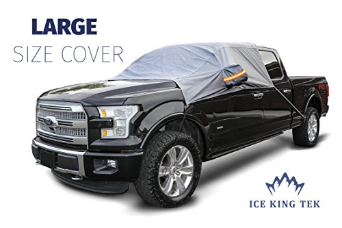 Premium Windshield Snow Cover - Ultra Durable Weatherproof Design - Covers Windshield, Wipers, and Mirrors - Large Size (2017 Model)
