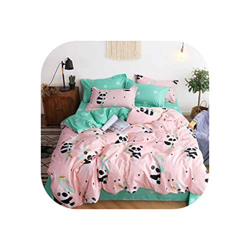 Comforter Sets Plant Green Cactus Bedding Sets Queen Size Quilt Cover Pillowcase Bed Cover Set for Kids Single Bed Linen,Xxm,King 4Pcs,Flat Bed Sheet