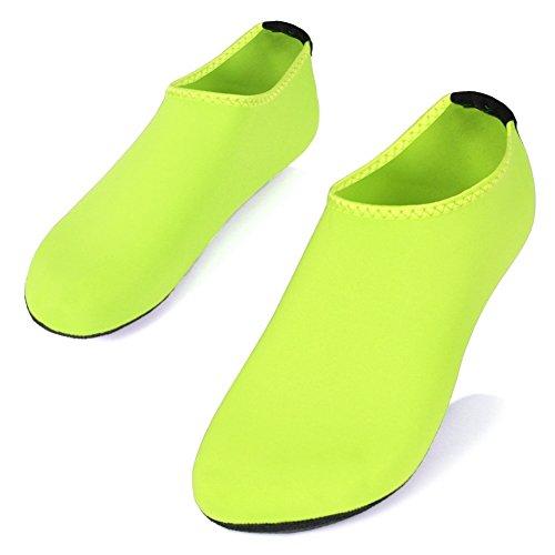 Shoeskiss Pieds Nus Peau Eau Chaussures Pour Femmes Hommes Chaussettes Aqua Surf Piscine Yoga Plage Natation Exercice Vert