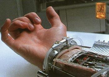 (Luke Skywalker's bionic hand trading card (Star Wars) 1997 Merlin Special Edition #68)