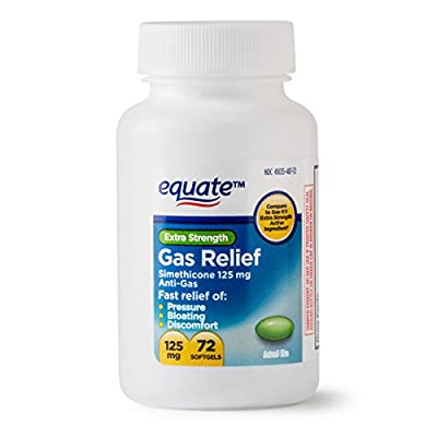 Equate - Gas Relief, Extra Strength, Simethicone 125 mg, 72 Softgels, Compare to Gas-X