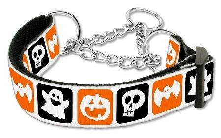 Mirage Pet Products Classic Halloween Nylon Ribbon Collar, Large, Martingale ()