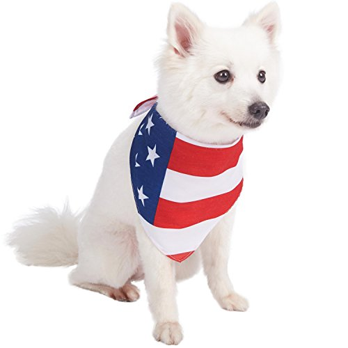 Pattern Pet Accessories - Blueberry Pet 3 Patterns National Pride Classic American Flag Designer Dog Bandana, 31.5