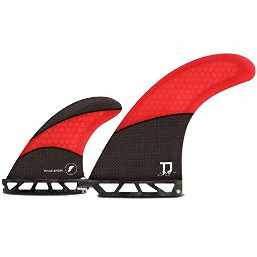 Future Fins Taylor Jensen 2+1 Longboard skeg and sidebite surfboard fin set by Future Fins