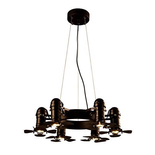 Windsor Home Deco, WH-61121, Industrial Chandelier, 6 Lights Chandelier Indoor, Adjustable Lamp, Iron, Black