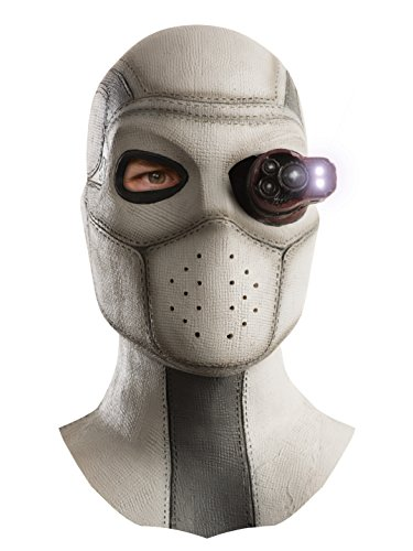 Rubie's Costume Co Suicide Squad Deadshot Overhead Lighted Latex Mask, Multi, One Size -