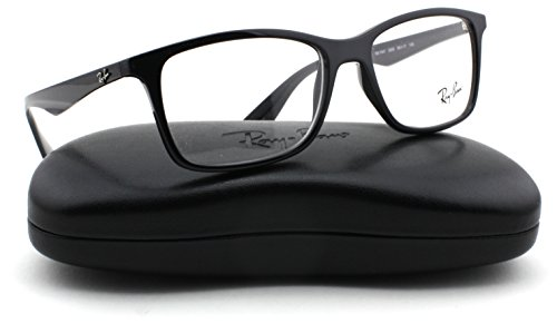 Ray-Ban RX7047 Rectangle Unisex Eyeglasses (Black Frame 2000, 54)