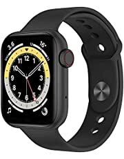 Smart Watch 40mm Case Full Touch 1.57 Inch Screen With Silicone Band 38/40mm Support Bluetooth Call Arabic Language Health Monitor Sports Fitness Tracker For Android & IOS - Black