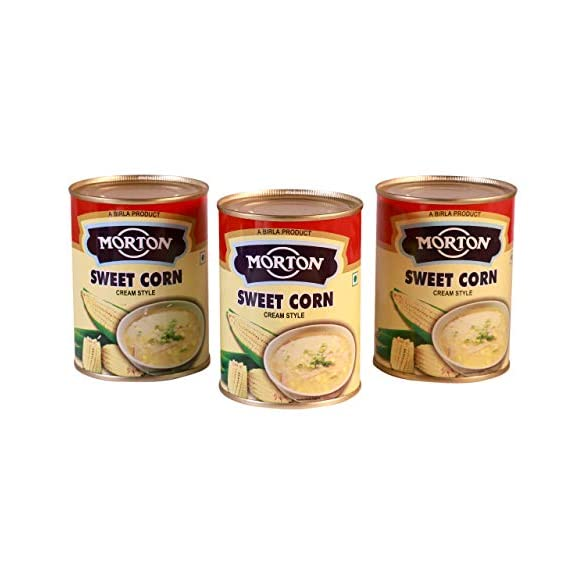 Morton Sweet Corn (Cream Style), 400 g (Pack of 3)
