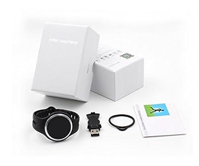 LJCCQ Fitness Tracker Activity Tracker Waterproof Bluetooth Wireless Bracelet Smart watch Smart Band Sleep Monitor Wristband,Black