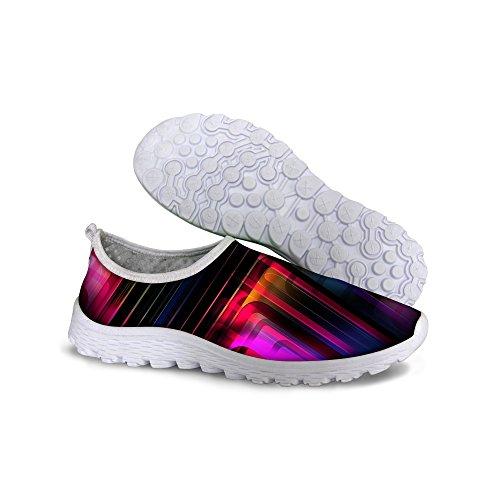 Pour U Conçoit Des Chaussures De Course De Sneaker Respirant De Femmes Vintage Multi 4