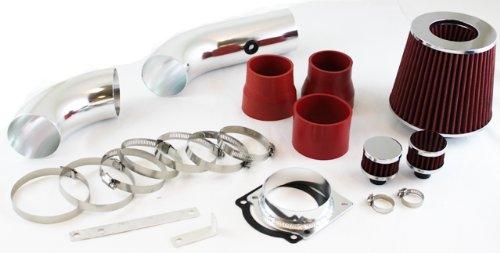 Filter 97-00 for Ford Explorer 4.0L V6 SOHC Engine ST Racing 3 Red Cold Air Intake Kit