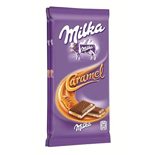 Milka - Caramel Chocolate Bar 2 Tabletas De 100G - Tablette Chocolat Caramel 2 Tablettes De 100G - Precio Por Unidad - Entrega Rápida: Amazon.es: ...