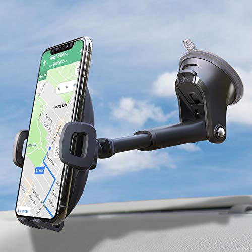 Suction Cup Phone Holder for Windshield/Dashboard/Window, Universal Dashboard & Windshield Sturdy Suction Cup Car Phone…