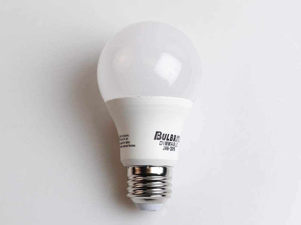 Bulbrite Dimmable 9 Watt 3000K A19 LED Bulb Enclosed Rated JA8 Compliant