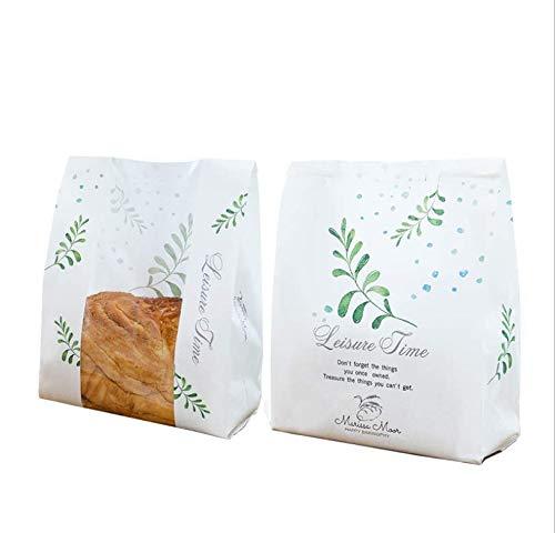 Paquete de 30 bolsas de papel para pan de papel Kraft para ...
