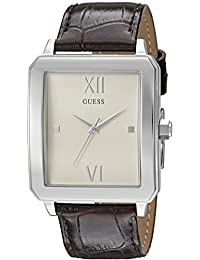 GUESS Men's U0918G1 Analog Display Quartz Brown Watch
