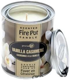 Ge Scented Fire Pot Tin Candle Vanilla Cashmere Amazon Ca Home Kitchen