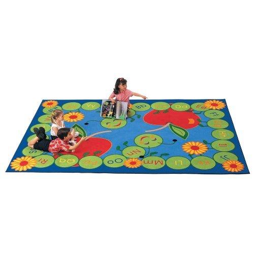 Carpets for Kids 2201 ABC Caterpillar Rectangle Carpet 4'5