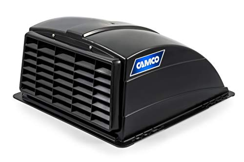 - Camco Standard Roof Vent Cover, Opens for Easy Cleaning, Aerodynamic Design, Easily Mounts to RV with Included Hardware-Black (40443)