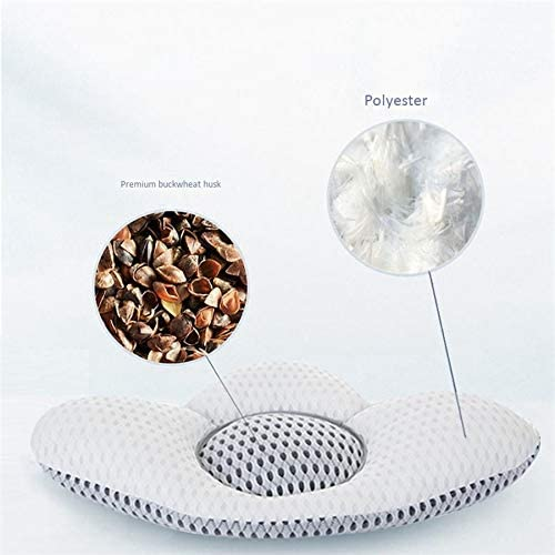 CUHAWUDBA Leaf Shape Back Pillow with Buckwheat Sleep Pillow Bed Pregnancy Pillow Waist Support Lumbar Disc Herniation Protector Cushion